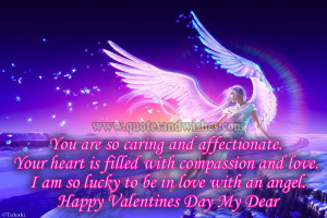 ... Love. I Am So Lucky To Be In Love With An Angel. Happy Valentines Day