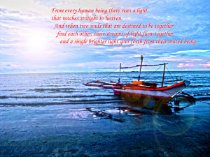 Seascape - Free Wallpaper Download with Love quote