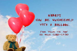 Winnie the Pooh Balloon Quote