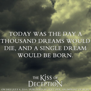 The Kiss of Deception by Mary E. Pearson came out on 7/8/14! Are you ...