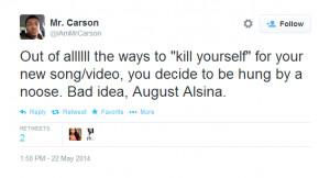 August Alsina Hangs Himself On Instagram, Fans Not Feeling It [PHOTOS]