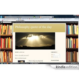 Philosophy quote of the day [Kindle Edition]