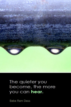 ... The quieter you become, the more you can hear. - Baba Ram Dass
