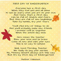 ... Kindergarten Teachers Quotes, Kindergarten Parents Poems, Kindergarten