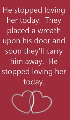 George Jones - He Stopped Loving Her Today - song lyrics, song quotes ...