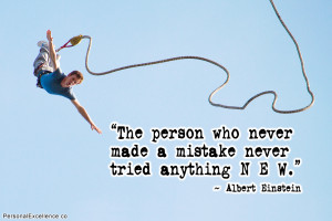 """Inspirational Quote: """"The person who never made a mistake never ..."""