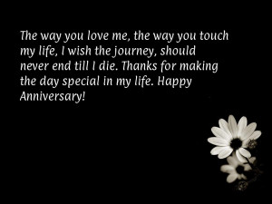 Happy anniversary quotes for her