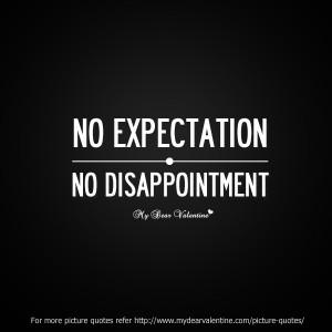 sad friendship quotes - No Expectation