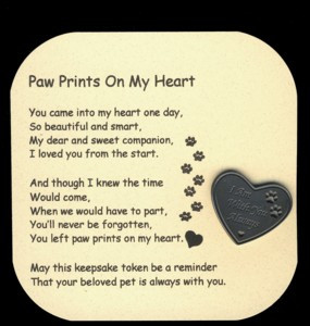Paw Prints On My Heart Poem