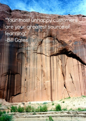 Customer service, quotes, sayings, learning, bill gates
