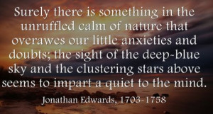 Jonathan Edwards & #Nature #Quote