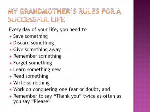 famous grandmother poems