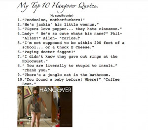 My top 10 hangover quotes