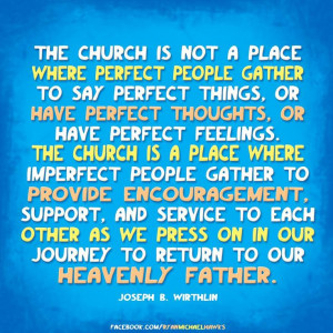 As you go to church today, please consider this quote. I am too often ...