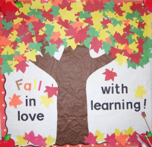 """Fall"""" in Love with Learning bulletin board via The Virtual Vine"""