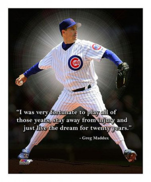 This Greg Maddux II Pro Quote Gallery-Wrapped Canvas by Photo File is ...