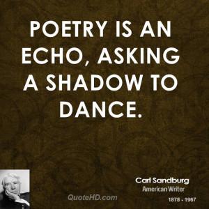Carl Sandburg Poetry Quotes
