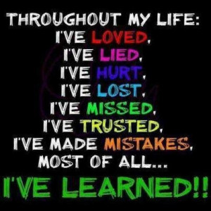 ve learned!!!