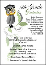 ... Invitation for 8th Grade, Middle School, and Jr High Graduation
