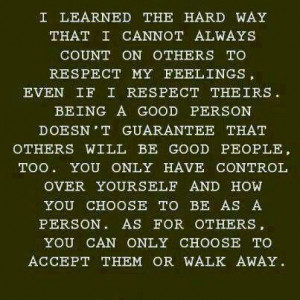 Very true! Just because u r genuine doesn't mean others are going to ...
