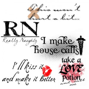 Naughty Nurse Word Art