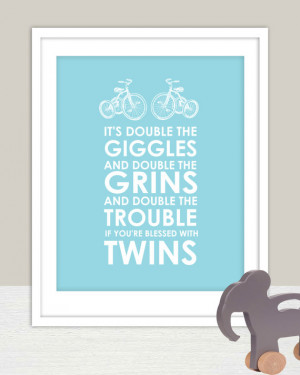 ... Twins Nursery 8x10- Name Personalized for Kids and Baby Nursery