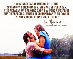 ... peliculas diario de una pasion q spanish quotes the notebook peliculas