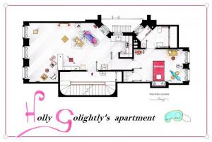 Breakfast at Tiffany's- Holly Golightly's Apartment Floor Plans