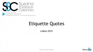 Etiquette Quotes