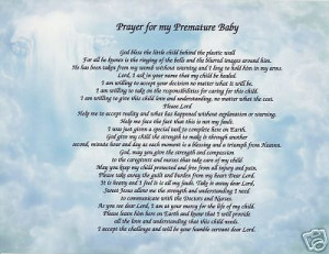 Prayer Premature Baby Poem...