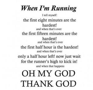 When I'm Running...