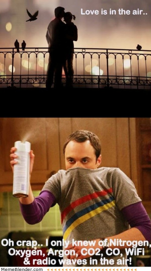 Sheldon Cooper Love is in the air