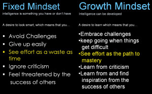 Difference Between Fixed and Growth Mindsets