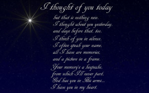 Miss you Don. I thought of you today
