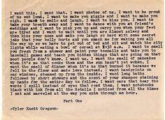 Tylerknottgregson typewriter quotes love beauty