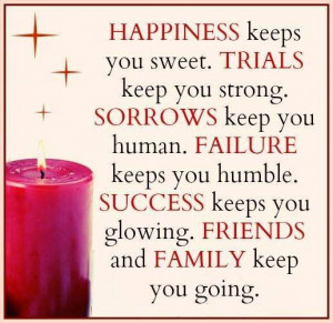 Friends And Family Keep You Going: Quote About Friends Family Keep ...