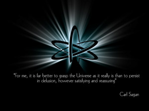 Beautiful Carl Sagan atheism quote picture thing