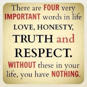 Love + Honesty + Truth + Respect
