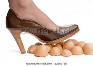 Walking Eggshells Stock Photos, Illustrations, and Vector Art
