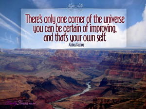 one corner of the universe motivational wallpaper