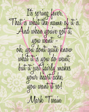 PRINTABLE: Spring Fever Quote Printable