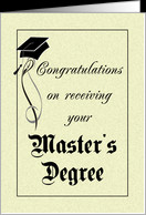 Graduation - Master's Degree card - Product #412132