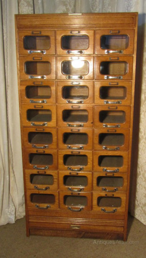 antique oak haberdashery cabinet shop counter
