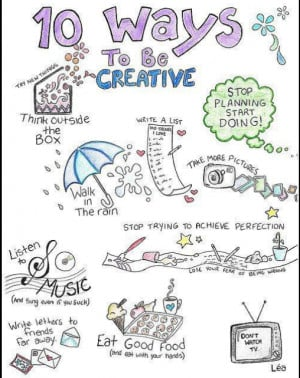 10 Ways to Be Creative ( Awesome Poster )