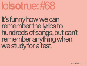 If we got marks for giving lyrics as our answer, I would be an honors ...