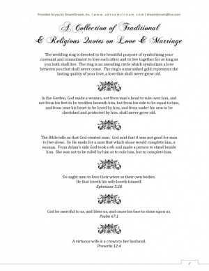 Religious quotes on love and marriage