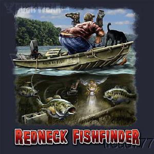 ... 160 Redneck Fishfinder Outdoors Hunting Fishing Redneck Funny Shirt L