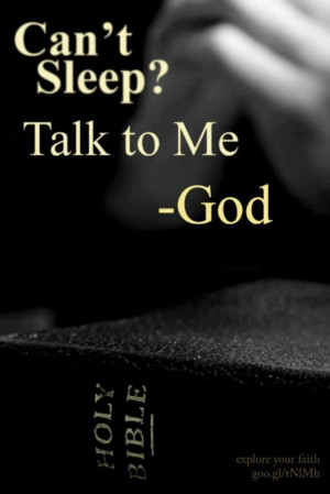 Talk to Him.