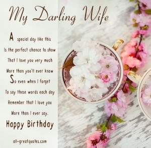 Happy Birthday Wife Cards – My Darling Wife