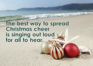 Christmas Beach Holiday Quote by 1 World Sarongs